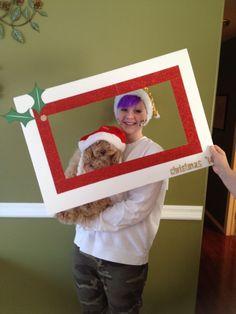 Christmas photo booth frame