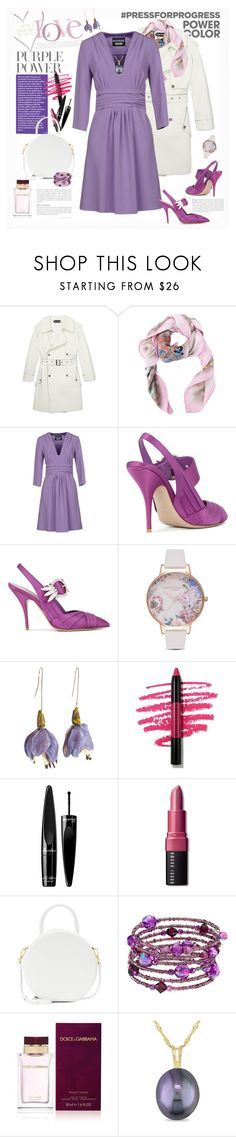 """""""International Women's Day: Purple Power"""" by ellie366 ❤ liked on Polyvore featuring Gucci, Boutique Moschino, Miu Miu, Olivia Burton, Marc Jacobs, Guerlain, Bobbi Brown Cosmetics, Mansur Gavriel, 1928 and Calvin Klein"""