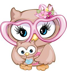 Baby Clip Art, Baby Art, Colorful Drawings, Cute Drawings, Stitch Games, Baby Animal Drawings, Silhouette Clip Art, Owl Pictures, Cute Owl
