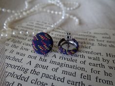 Fabric button earrings, crafts