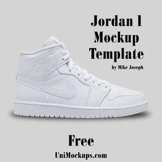 Download Custom Jordan 1 Mockup Template Unimockups Com Custom Jordans Mockup Template Mockup