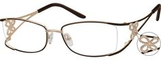 Zenni Optical Oversized Glasses : Womens Purple 5579 Metal Alloy Half Rim Frame with Spring ...