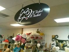 A Tisket A Tasket Hat Shoppe located in 425 Market Place Antiques in Roswell GA.