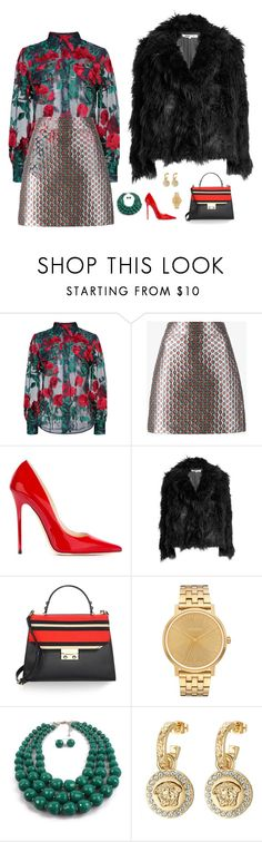 """80's mood"" by candynena228 ❤ liked on Polyvore featuring Adam Selman, Miu Miu, Jimmy Choo, McQ by Alexander McQueen, Kate Spade, Nixon and Versace"
