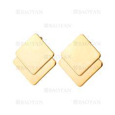 aretes de dorado en acero inoxidable para mujer-SSEGG054661
