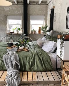 Teen Girl Bedrooms, check out the quite lovely bedroom design this second, info 8881026909 Bedroom Green, Dream Bedroom, Modern Bedroom, Bedroom Decor, Design Bedroom, Green Bedrooms, Small Bedrooms, Bedroom Ideas, Bohemian Interior Design