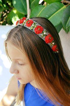 accesorios pelo diademas flores diademas artesanales tela