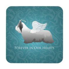 Skye Terrier Angel Design Coasters