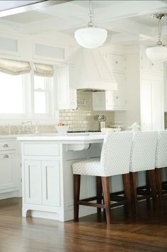 #WhiteKitchen Can a White Kitchen get any better than this? Love the design!