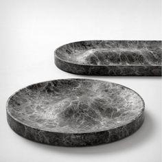 Jean Louis Iratzoki; Marble 'Domo' and 'Batela' Trays for Retegui, 2014.: