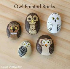 63 Besten Eule Stein Bilder Auf Pinterest Painted Rocks Rock