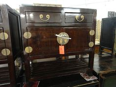 Asian Inspired Media Cabinet Console Brown Los Angeles by housecandyla, $650.00