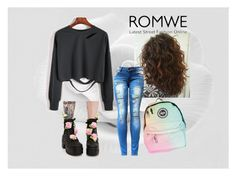 """Romwe Win Cool Sweatshirt Contest"" by xxmrs-wolfxx on Polyvore featuring Sugarbaby"