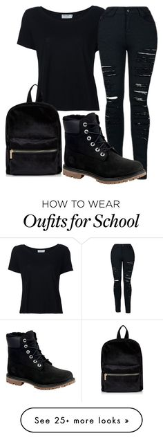 """School outfit"" by adriacowell22 on Polyvore featuring Frame and Timberland"