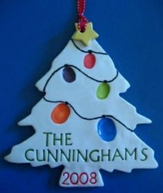 Thumb Print Salt Dough Ornament by Wednesday's Child
