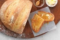 sourdough that uses a small amount of active dry yeast to make a faux ...