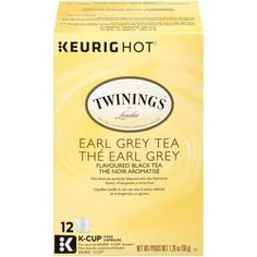 Twinings Tea, Earl Gray, K Cups, How To Know, Black, Products, Black People, Gadget