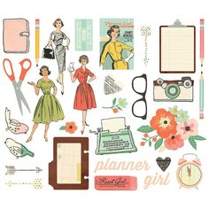 Found it at Blitsy - NEW! Simple Stories Carpe Diem The Reset Girl Big Pieces Die-Cuts