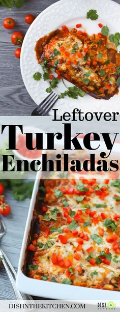 Turkey Enchiladas are a cheesy baked Mexican inspired rolled tortilla dish made with leftover turkey, salsa roja and a three cheese blend. #bakedenchiladas #enchiladas #casserole #comfortfood #leftoverturkey #turkeyenchiladas #dinner Turkey Recipes, Dinner Recipes, Enchilada Ingredients, Fresh Tortillas, Turkey Enchiladas, Red Enchilada Sauce, Baked Turkey, Leftover Turkey, Big Meals