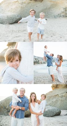 Gorgeous family photo shoot on the beach | beautiful serene colors in their wardrobe