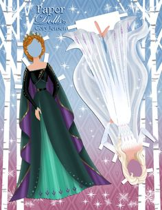 Elsa and Anna Frozen 2 paper dolls with clothing from the movie Disney Princess Dress Up, Anna Disney, Disney Tangled, Disney Fun, Disney Princesses, Walt Disney, Frozen Paper Dolls, Disney Paper Dolls, Paper Doll Craft