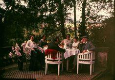 Garden party.  Autochrome photo, 1910's