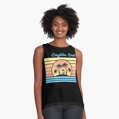 Daytona Beach Gift. Travel Gift. Daytona Beach travel or holiday souvenir tee shirt are the perfect to wear to the beach surfing, sailing or for spring break. Perfect gift for someone travelling to Daytona Beach. Turks And Caicos Vacation, Beach Trip, Beach Travel, Beach Gifts, Vacation Shirts, Daytona Beach, Tee Shirts, Tees, Chiffon Tops