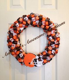 Cleveland Browns Football Ribbon Wreath by AmandasCreations11, $35.00