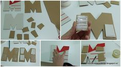 By Acasa Colt de Rai- M is for Maria- Tutorial- how to make a cardboard letter
