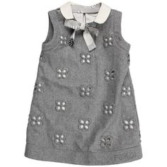 Fendi Kids Girls' Sleeveless Eyelit Dress (Toddler) (2 140 SEK) ❤ liked on Polyvore featuring baby, dresses, kids, kids clothes, baby dresses and grey