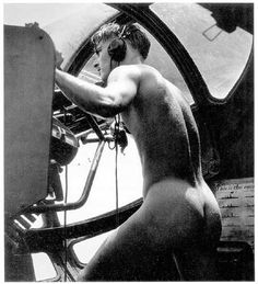"""Rescue at Rabaul, 1944: """"...we got a call to pick up an airman who was down in the Bay. The Japanese were shooting at him from the island, and when they saw us they started shooting at us. The man who was shot down was temporarily blinded, so one of our crew stripped off his clothes and jumped in to bring him aboard. He couldn't have swum very well wearing his boots and clothes. As soon as we could, we took off... The naked man got back into his position at his gun in the blister of the plane."""""""