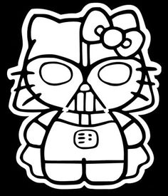 Hello Kitty Darth Vader Decal Vinyl Sticker|Cars Trucks Walls Laptop|WHITE|5.5 In|URI104. For product info go to:  https://www.caraccessoriesonlinemarket.com/hello-kitty-darth-vader-decal-vinyl-stickercars-trucks-walls-laptopwhite5-5-inuri104/