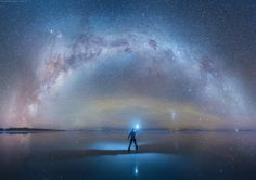 Determined to find a destination where he could photograph a completely dark sky, Russian photographer Daniel Kordan traveled to the Altiplano region of west-central South America, an area known for its absolute darkness, and which rises 12,300 feet above sea level. While here, Kordan captured theU