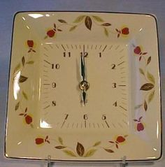 Autumn Leaf Square Clock. Click the image for more information.