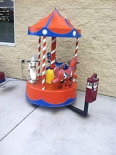 Coin Operated Carousel Kiddie Ride