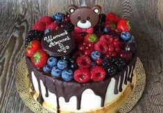 детский торт украшенный фруктами