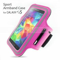 Samsung Galaxy S5 case - Sport Armband Case for Samsung Galaxy S5 Magenta