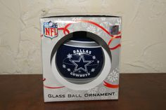 Forever Collectible NFL Glass Ball Ornament For Christmas Dallas Cowboys IN BOX