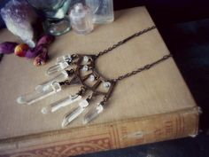 mystic i  edgy metalwork bib necklace  riveted by opulentoddities, $63.00