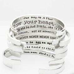 Buy Confidence Cuffs Hand Stamped Aluminum Cuff Bracelets, SECRET MESSAGE Bracelets - Message on the Inside by Jessie Girl Jewelry on OpenSky