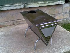 Sweet little tent wood stove design More