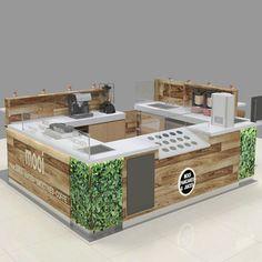 Source Solid wood coffee kiosk with bar counter coffee shop counter design fo. Kiosk Design, Bar Design, Stand Design, Booth Design, Retail Design, Coffee Shop Interior Design, Coffee Shop Design, Interior Shop, Coffee Shop Counter