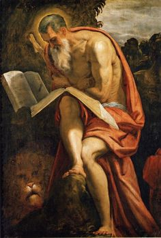 Jacopo Robusti, called Tintoretto. Saint Jerome in the Wilderness. c.1571-72. Oil on canvas. 143.5 x 103 cm. Kunsthistorisches Museum, Vienna, Austria