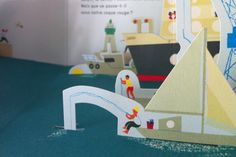 2clics: Océano Up Book, Book Art, This Book, Flat Illustration, Magpie, Pop Up, Illustrators, Paper Crafts, Kids Rugs