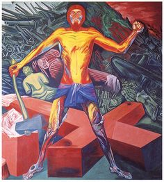 """pricew:  """"Christ Destroys His Cross"""" by Jose Clemente Orozco (1883-1949)"""