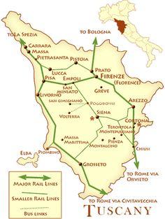 map of tuscany