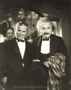 Charlie Chaplin with Albert Einstein at the premiere of his movie City Lights, c.1931