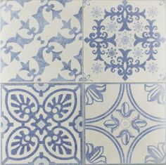 Skyros Delft Blue Wall and Floor Tile - Tiles