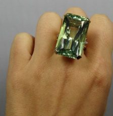 chatham emerald marqise ring | ... RARE Huge 49.66ct Green Beryl 14K Yellow Gold Art Deco Ring - RGBE100P