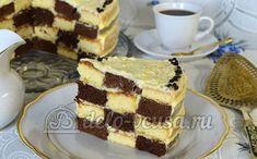Рецепт Шахматного торта https://delo-vcusa.ru/recept/shahmatnyj-tort/  #рецепты #торты #выпечка #деловкуса